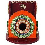 Jaipuri Haat Hand Crafted Trendy Mobile Stand in Royal Kundan Minakari Cone Work