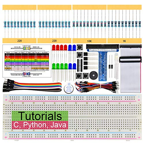 Freenove Basic Starter Kit for Raspberry Pi 3 B+, 147 Pages Detailed Tutorials, Python C Java, 146 Items, 17 Projects, RPi 3B+ 3B 3A+ 2B 1B+ 1A+ Zero W (Python-starter-kit)