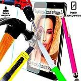 A&D Pellicola proteggi schermo in vetro temprato indistruttibile per HUAWEI honor 7-Filtro protettore invisibile & antigraffio, per Smartphone, honor 7, 3 g, 4 g, rivestimento grigio argento nero bianco, doppia sim