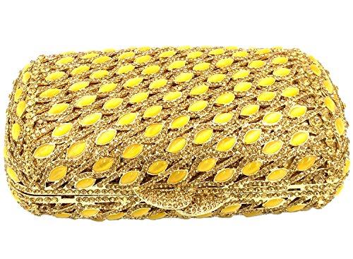Matrimonio Borsa Con Strass Pochette Donna Sera Borsetta Portafoglio Festa Cerimonia Frizioni Mini Cuscino Oro Gold