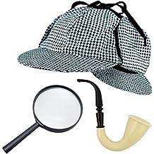 8dff3518548 German Trendseller Sherlock Holmes SET Deluxe┃ - NEU -┃ Fasching ┃ Karneval  ┃ Detektiv