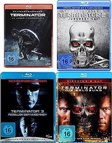 Terminator 1 2 3 4 Uncut QUADRILOGY - Blu Ray Collection Set (Collection 4 Dvd-set)