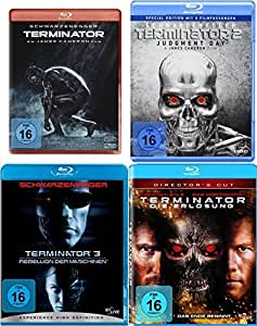 Terminator 1 2 3 4 Uncut QUADRILOGY - Blu Ray Collection Set