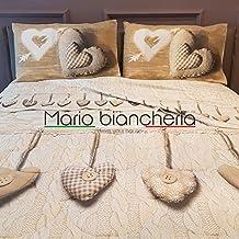 Completo Lenzuola In Flanella, Per Letto Matrimoniale 2 Piazze, Modello Europa Disegno Cuore Colore