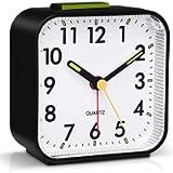 Tisaika Silent Alarm Clocks Bedside Non Ticking Battery Powered Table Clocks Luminous Large Display Snooze Light…