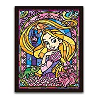 Leezeshaw 5D DIY Diamond Painting By Number Kits Fameless Rhinestone Embroidery Paintings Pictures For Home Decor - Rapunzel (11.8x15.7inch/30x40cm)