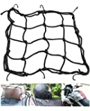 Vatsas Universal Bungee Cargo Luggage Net Holder for Bike and Motorcycle - Strong and Elastic 30 x 30cm Mesh Rope Straps…