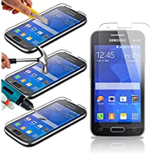 Samsung Galaxy Ace 4 Lot de 1 Lot de films protecteurs d'écran en verre trempé Crystal Clear LCD Packs Avec Chiffon et carte d'application par iPhone R Us®