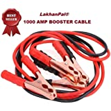 LakhanPal® Premium Car Heavy Duty || Jumper Cable Battery Storage || Wire Clamp with Alligator Wire || Clamp to Start Dead Battery || Emergency Line Truck Off Road || Auto Car Jumper Cables (1000AMP)