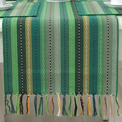 Table Runnerseven-Color Streaks Fabrics Simple Bed End Towel Enclosure Rest Garden Coffee Table FlagC 40*220Cm Western (C Flag Garden)
