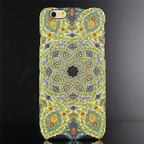 "licaso® iPhone 6 6S 4,7"" Hülle Affe Geometrisch Polycarbonat iPhone Case Schutzhülle 3D Soft Touch iPhone Hülle Rubber Design Tasche iphone6 mehrfarbig PC (iPhone 6 6S 4.7"", Affe) bunt"