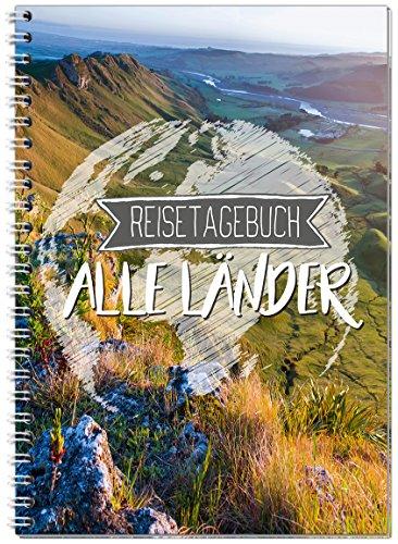 Reisetagebuch zum Selberschreiben alle Länder / Extra leichtes Notizbuch A5 Ringbuch mit 120 Seiten / Packliste, Reiseplan, Zitate, Fun Facts, Reise-Challenge - Sophies Kartenwelt