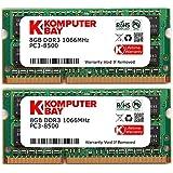 Komputerbay 16GB Dual Channel Kit 2x 8GB 204pin DDR3-1066 SO-DIMM PC3-8500 1066 (1066MHz, CL7) per Apple
