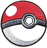 Pokemon Pokeball Motiv Game Logo T shirt Girl Jacke Iron on Patches Aufnäher bestickt