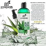 Produkt-Bild: ArtNaturals Aloe Vera Gel Kaltgepresst - (12 Fl Oz/354ml) - 100% Naturrein Bio - Feuchtigkeitspflege für Haut und Haar - Für Sonnenbrand, Hautreizungen, Insektenstiche - After Sun