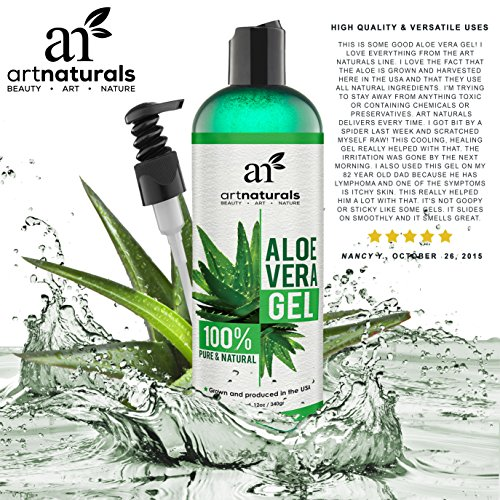 art naturals aloe vera gel f r gesicht haare k rper 354 ml. Black Bedroom Furniture Sets. Home Design Ideas