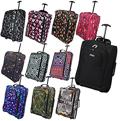 Hand Luggage 50x40x20 Wheeled Lightweight Cabin Easyjet Trolley Bag Case - cheap UK light shop.