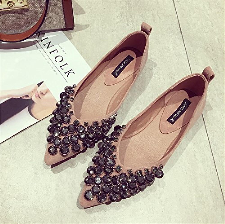 SFSYDDY nueva versión de los zapatos de gamuza suave con puntas inferiores, cómodos zapatos con muelles a juego...
