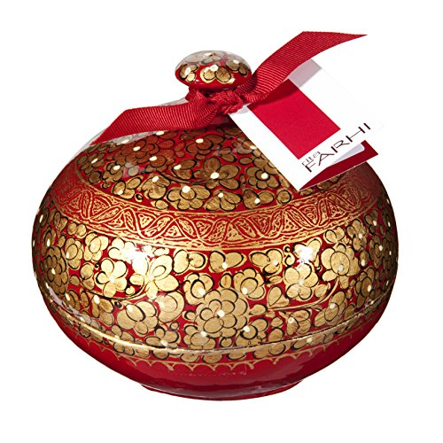 rita-farhi-hand-made-papier-mache-bonbonier-filled-with-assorted-chocolate-almonds-golden-flower-red