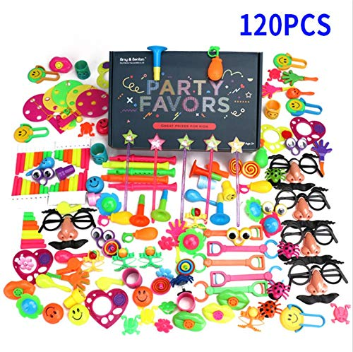 Admier Party Birthday Prize Set, Kids Holiday Bag Filler Bulk 120pcs Pinata DIY Ribbon Karneval Frühaufklärungsschul-Kinderspielzeug