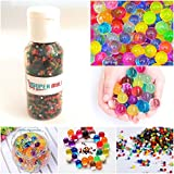 #5: Supermall New 5500+ Beads Crystal Mud Soil Water Beads Jelly Ball Mixed Multi Color Flower Plant Décor Bottle Packing set Best Quality