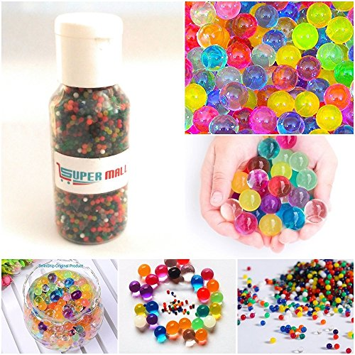 Supermall New 5500+ Beads Crystal Mud Soil Water Beads Jelly Ball Mixed Multi Color Flower Plant Décor Bottle Packing set Best Quality