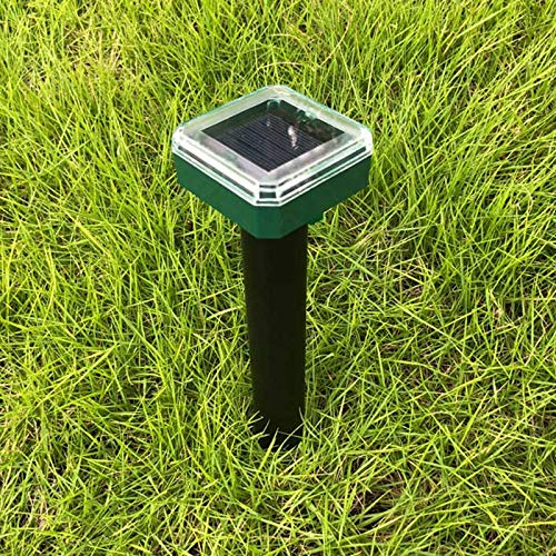 Leobtain Solar Maus Expeller Ultraschall Umweltfreundlich für Outdoor Garten Hof Feld Farm Grünland Repeller Mäuse Schlangen Füchse Maulwürfe und andere Tiere -