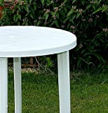 90CM White Resin Patio Table