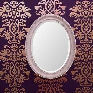 Ovale sfaccettato specchio barocco 48x38 cm bianco - Specchio antico ovale ...