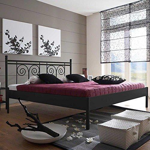 Pharao24 Design Jugendbett in Schwarz Eisen