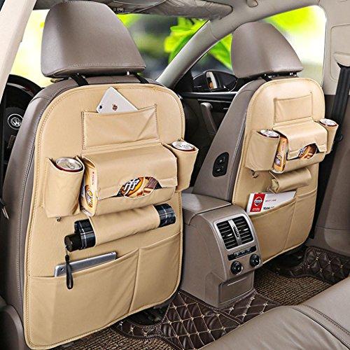 LIYONGDONG® RüCkfahrsitzbeutel AutozubehöR Auto-Tasche Aufbewahrungskiste Multifunktions-Sitze Aufbewahrungstasche HäNgende Tasche Aufbewahrungskiste beige Windel Caddy Lila