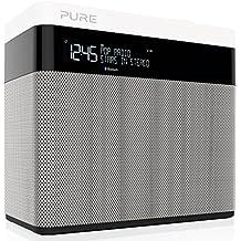 Pure POP Maxi BT Radio (DAB/DAB+ Digital- und UKW-Radiowecker mit Bluetooth & Stereo Sound) weiß