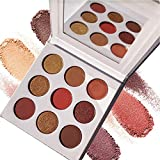 OYOTRIC 9 Color Eye Shadow Makeup Palette Nude Shimmer Matte Smoky Eyeshadow Neutral Nude/Brown/Chocolate/Red Brown Pumpkin Cosmetics