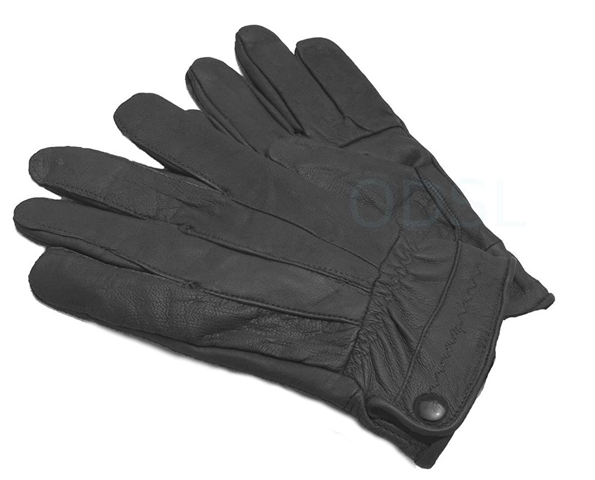 Ladies coloured leather gloves - Ladies Fleece Lined Designer Leather Driving Glove Seamed Design Button Fasten Coloured Leather Glove