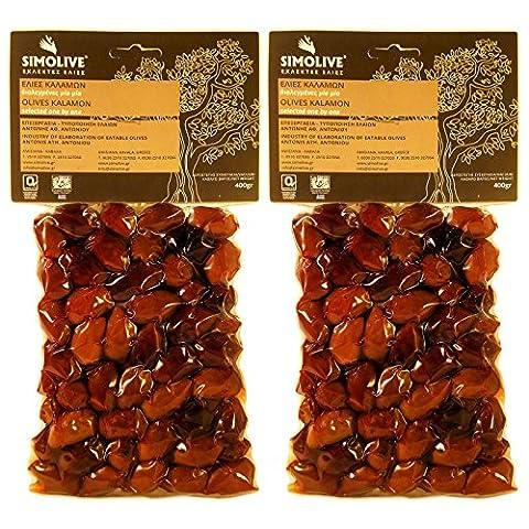Oliven aus Kalamata, tratitionelle Auswahl Kalamon. Nettogewicht 800gr