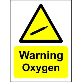 photo relating to Oxygen in Use Sign Printable named Danger Caution Security Signal - Chance Oxygen Cylinder Indicator