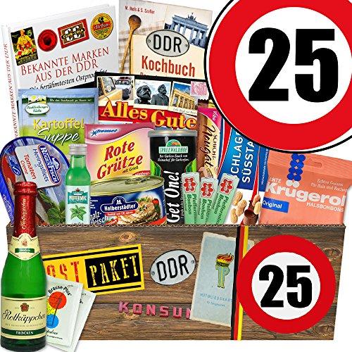 Spezialitäten Box | DDR Geschenkbox XXL | Zahl 25 | Geschenkideen Freund