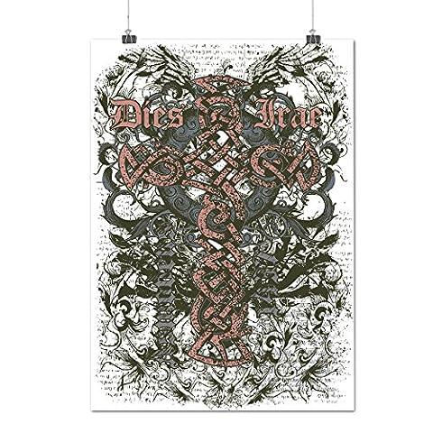 Mort Traverser Horreur Mode La tombe Cour Matte/Glacé Affiche A2 (60cm x 42cm) | Wellcoda