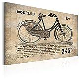 murando - Bilder 120x80 cm Vlies Leinwandbild 1 TLG Kunstdruck modern Wandbilder XXL Wanddekoration Design Wand Bild - Poster Fahrrad Aufschrift Vintage Frankreich i-B-0010-b-a