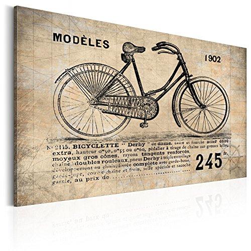 Cuadro en Lienzo 60x40 cm - XXL - Impresion en calidad fotografica - Cuadro en lienzo tejido-no tejido 1 parte cartel inscripcin Vintage i-B-0010-b-a 60x40 cm
