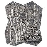 Holyart Vía Crucis latón Plateado 14 Estaciones 22 x 18 cm