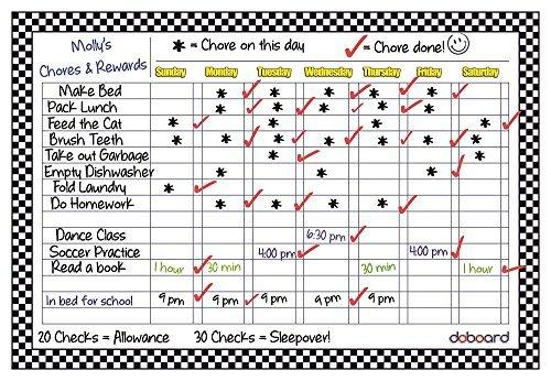 doboard groß 30,5x 43,2cm magnetisch flexibel Dry Erase Diagramm Board | pflanzengießen | Verantwortung | Aktivität | verhelfen | Star | Menu | für Home Küche oder Büro | Kühlschrank oder Schrank