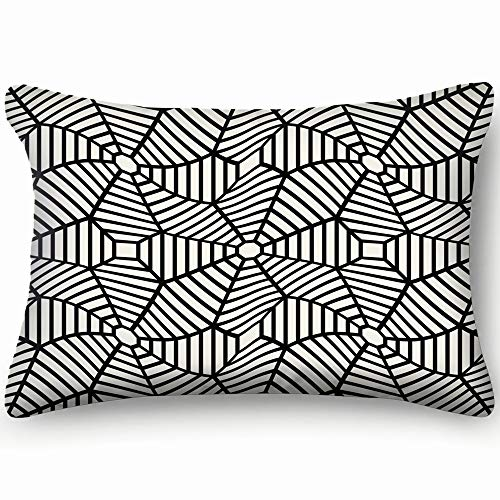 metry grid abstract Abstract Cotton Linen Blend Decorative Throw Pillow Cover Cushion Covers Pillowcase Pillow Shams, Home Decor Decorations for Sofa Couch Bed Chair 20x30 Inch ()