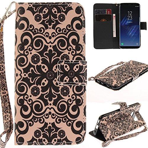 Ooboom® Nokia 3 Hülle Flip PU Leder Handy Tasche Case Cover Schutzhülle Wallet Standfunktion Kartenfach für Nokia 3 - Totem Blume Schwarz
