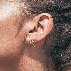 LnLyin Mujer Toque minimalista Mode Pendientes Joyas geométrico unrege lmäßige temperamento Modelos Pendientes, dorado, talla