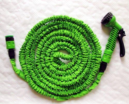 30 Meter flexibler Gartenschlauch grün Wasserschlauch Magic Hose Schlauch mit Düse