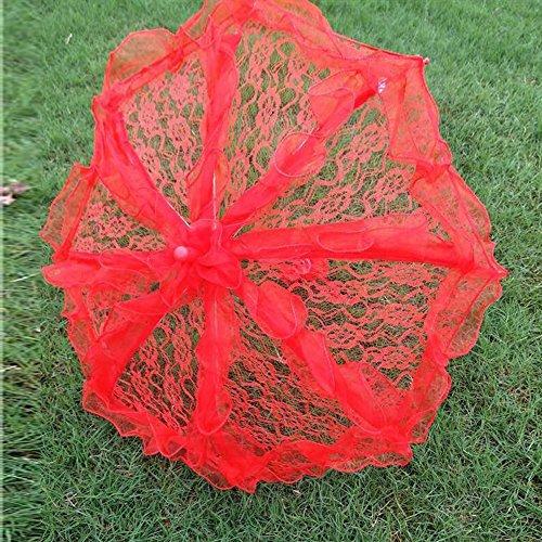 bpblgf H Hochzeit Sonnenschirm mit Spitze Lady Kostüm Zubehör Foto Prop, 3, 48* 72 (Regen Beweis Kostüm)