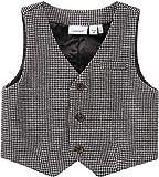 NAME IT Baby Jungen Weste festlich Taufkleidung NBMSEFISK, Größe:68, Farbe:Grey Melange