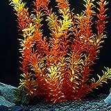 owikar Aquarium Pflanzen Hohe Nachahmung Wasserpflanzen lebensecht Stratified gelb Fish Tank Künstliche Decor Landschaft Kunststoff Wasser Pflanzen 30cm 39,9cm 50cm groß Größe