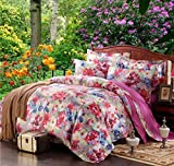 Autumn and winter European and American cotton satin jacquard four sets of bedding
